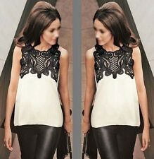 Women's Sleeveless Chiffon Loose T-Shirt Tops Ladies Vest Casual Blouse