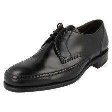 Mens Loakes Black Leather Formal Lace Up Shoes G Fitting Woodford