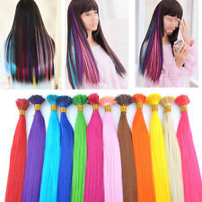 """New Women Wholesale Cosplay Colorful Synthetic Feather I Tip Hair Extensions 16"""""""
