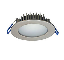 LED Downlight 10W Dimmable Round in White or Satin Chrome IP44 PAK Lighting