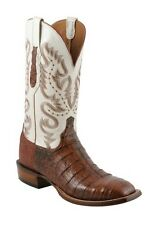 Lucchese CL1005 W8 Mens Cognac Caiman Crocodile Leather Western Cowboy Boots