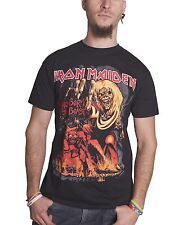 Iron Maiden Number Of The Beast Graphic Official Mens Black T Shirt