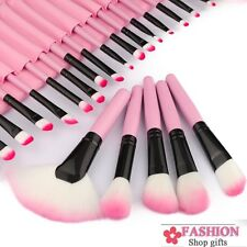 PRO PINK 32PC Professional Superior Soft Cosmetic Makeup Brush Set Kit+Pouch Bag