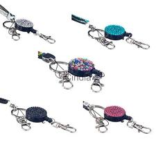 Rhinestone Crystal Neck Lanyard Holder ID Badge Cell Phone Key Holder DIY Craft