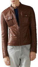 Gucci Men's Brown Leather Padded Leather Jacket