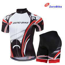 Mens Pro Cycling Bicycle Riding Outdoor Sports Wear Short Sleeve Bike Jersey Set