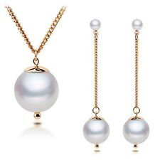 Hot Selling Fashion Necklace and Earring Set Elegant Faux Pearl Jewelry Sets
