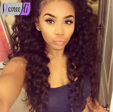 Spanish Loose Curly Indian Human Remy Hair Front/ Full Lace Wig Baby Hair Around