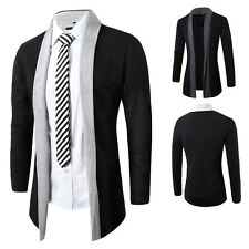 Fashion Men's Slim Knitted Cardigan Jacket Casual Coat Sweater Outwear Outcoat
