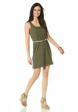 Chillytime Shirt Dress Dress Shirt Jersey dress gold rim khaki gold 795930