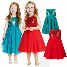 Baby Kids Flower Girl Wedding Formal Birthday Party Princess Dress Outfit 2-6T