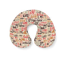 Love Typography Travel Neck Pillow - Inflatable