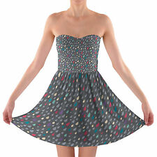 Only Happy When It Rains Sweetheart Skater Dress Strapless XS-3XL