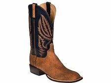 Lucchese HL2504 Mens Tan Old English Goat Leather Western Horseman Cowboy Boots