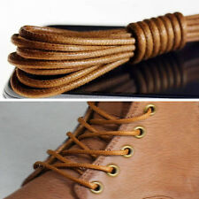 1/2 Pairs Waxed Round Shoe Laces Shoelace Bootlaces Leather Brogues Multi Color