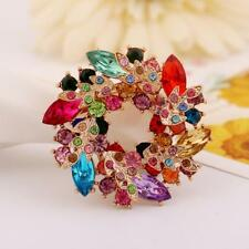 Fashion Bauhinia Crystal Flower Brooch Brooch Pin Bridal Jewelry Wedding Gift