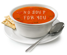Men's T Shirt: Seinfeld: No Soup For You Soup Nazi Parody T Shirt
