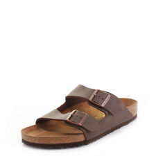 Mens Birkenstock Arizona Brown Flat Footbed Twin Straps Sandals Shoes Shu Size
