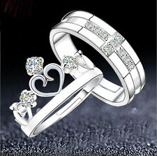 Silver Plated Ring Gem Adjustable Sexy Bridal Cool Finger Band Couple Oath Top t
