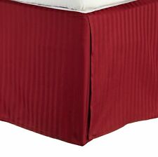 800TC Split Corner Bed Skirt Burgundy Striped 100% Egyptian Cotton All Size*