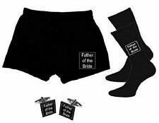 Mens WEDDING Gift Set Socks Boxers and Cufflinks Thank you For Being MY Him SETS