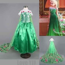Elsa Girl's Cosplay Disney Frozen Dress costume Princess Anna Party Gift Dresses