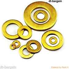 SOLID BRASS FORM A WASHERS THICK M2.5,3,4,5,6,8,10,12,16 TO FIT BOLTS & SCREWS