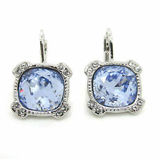 Crystal Square Pierced Earrings made with  SWAROVSKI Crystals®