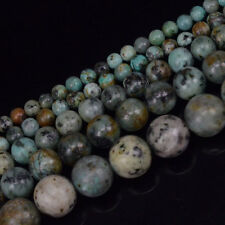 Natural Stone African Turquoise Gemstone Round Beads 15'' 4mm 6mm 8mm 10mm