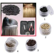 500Pcs 4.5mm Aluminum Micro Nano Rings Beads for I Tip Hair Extensions