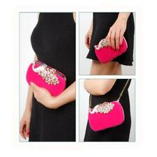 Fashion Crystal Womens Clutch Wedding Evening Party Bag Purse Clutch Handbag
