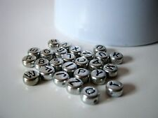 40 Silver Acrylic Alphabet Beads 7mm - Sold by the Letter