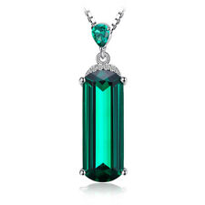 JewelryPalace Nano Russian Emerald Pendant  Necklace 925 Sterling Silver Women