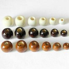 50 Packs of Round Wooden Bead for Jewelry Making 10/12/14/16/17/18 mm