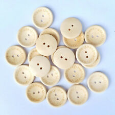 50PCS Love Handmade Buttons Sewing Crafts Wooden 2 Holes Butterfly Round DIY