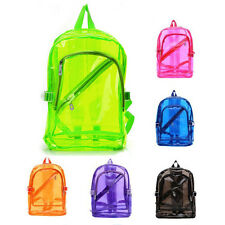 Clear Transparent Backpack PVC School Security Book Bag Sports Travel New