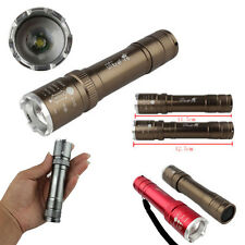 5000 Lumens 3 Modes CREE XML T6 LED 18650 Flashlight Torch Lamp Light Outdoor RF