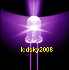 10 20 50 100pcs 5mm Round 365nm-370nm Ultra Violet UV LED Lamp bead 3.2-3.6V DIY