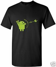 Android Shooting  T-Shirt  Computer Geek Cell Phone Black Free Shipping  New