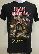 T-Shirt Rock Band Music Iron Maiden The Trooper Screen New