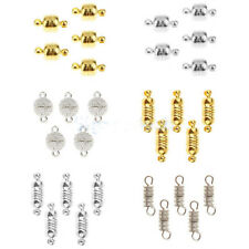 5 Sets of Magnetic Clasps Connectors Findings for Jewelry DIY-Gold/Silver