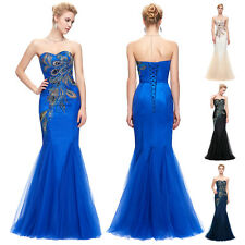 Long Bridesmaid Bridal Cocktail Dress Formal Ball Party Evening Maxi Prom Gown