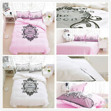Embroidery Duvet/Quilt Cover Double Queen King Size Bed  Bedding Set Bedding Set