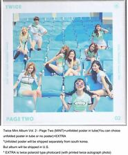 Twice Mini Album Vol. 2 - Page Two (MINT)+unfolded poster in tube+EXTRA
