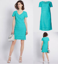 Per Una Cotton Sea Green Turq Broderie Anglaise Shift Dress Size 8 10 12 14 16