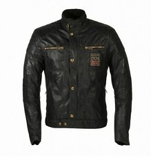 NEW BELSTAFF WEYBRIDGE FOUNDER'S COLLECTION WAXED COTTON BLOUSON JACKET - BLACK