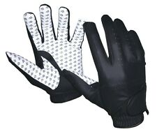 New White Black Equestrian Riding Gloves Horse tack English Choice Size Dressage