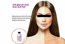 Glycolic Lactic Kojic Acid Peel w/ Arbutin Licorice Skin Whitening Lightening