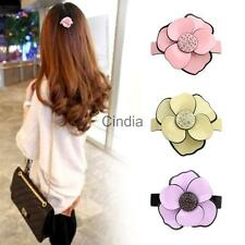 Lady Girls Camellia Hair Barrette Clip Flower Hair Accessory Jewelry