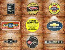 CHEVY Chevrolet Embossed Metal Sign Deco Muscle Car Auto Garage Parts Service Ad